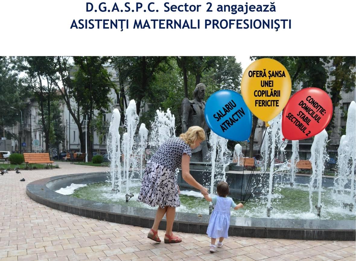 """DGASPC Sector 2 recrutează personal în vederea evaluării şi recrutării ca Asistent Maternal Profesionist în cadrul Proiectului """"TEAM-UP: Progres în calitatea îngrijirii alternative a copiilor"""" – ID 127169"""